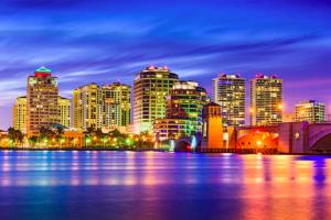 Night Skyline of Downtown West Palm Beach